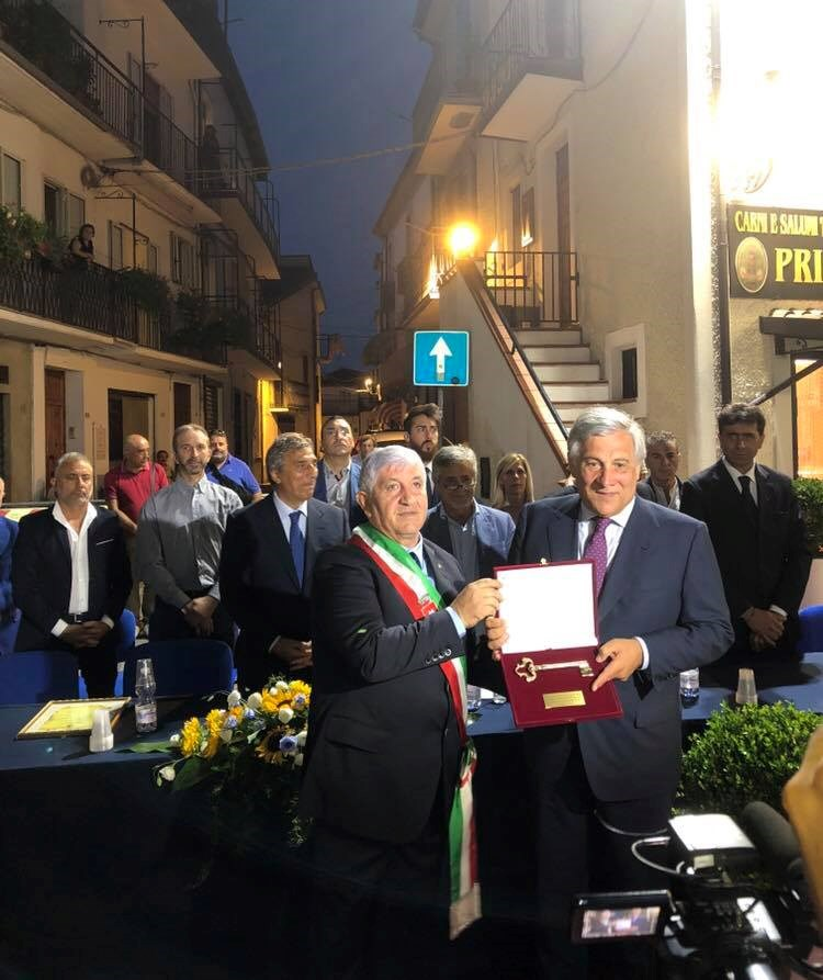Cittadinanza onoraria On. Antonio Tajani